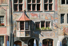 Detail of a medieval house of Stein am Rhein Royalty Free Stock Photography