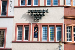 Detail of a medieval house in Trier Stock Images