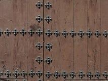 Detail of medieval monastery door Stock Photography