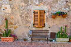 Detail from the medieval town Sovana. Tuscany,Italy Stock Photography