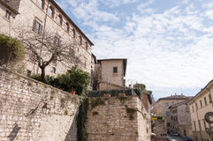 Detail in the medieval village of Gubbio Royalty Free Stock Photo