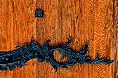 Detail of a medieval wooden door 1 Royalty Free Stock Photos