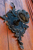 Detail of a medieval wooden door 2 Royalty Free Stock Photo