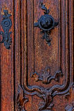 Detail of a medieval wooden door 5 Royalty Free Stock Image