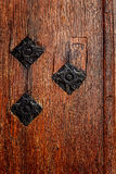 Detail of a medieval wooden door 7 Royalty Free Stock Image