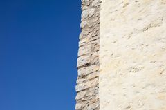 Detail of mediterranean country house made of stone on a sunny d royalty free stock images