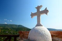 Detail. Megali Panagia monastery. Samos island. Greece Royalty Free Stock Photos