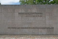 Detail of memorial monument at the Bergen-Belsen memorial Royalty Free Stock Photography