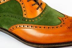 Detail of men's Spectator Style Dress Shoe Royalty Free Stock Photo