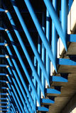Detail of metal frame. Detail of blue  metal frame Royalty Free Stock Photos