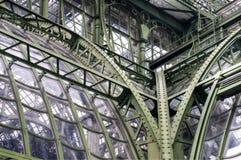 Detail of metal glass construction Stock Photos