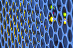 Detail on the metal grille Stock Photo