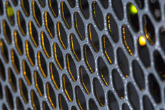 Detail on the metal grille Royalty Free Stock Images