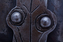 Detail metal rivets Royalty Free Stock Image