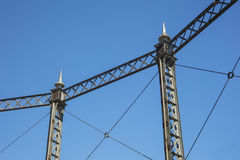 Detail of metal structure belonging to an old gas factory in Bar Stock Image