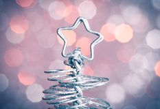 Detail of metallic modern christmas star Stock Image