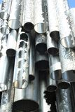 Detail of metallic pipes of Sibelius monument Royalty Free Stock Images