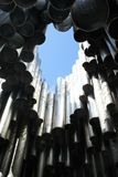 Detail of metallic pipes of Sibelius monument Royalty Free Stock Photo