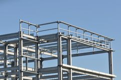 Metallic structure. Detail of metallic structure from a modern construction Royalty Free Stock Image