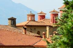 Detail of Meteora Clifftop Monasteries Royalty Free Stock Photos