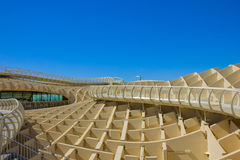 Detail of Metropol Parasol in Sevilla,Spain Stock Photos