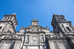 Mexico City Cathedral, Zocalo, Mexico Royalty Free Stock Photo