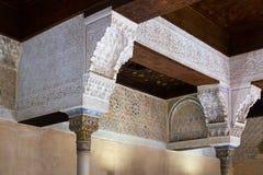 Detail of Mexuar Hall at Nasrid Palaces, Alhambra.  Granada Stock Photos