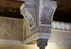 Detail of Mexuar Hall at Nasrid Palaces, Alhambra Stock Image