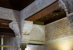 Detail of Mexuar  at Nasrid Palace, Alhambra Royalty Free Stock Photo