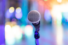 Detail of microphone with blurred Stock Images