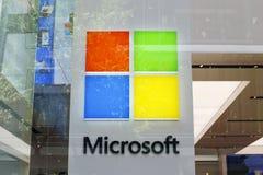 Microsoft store. Detail of Microsoft store in Sydney, Australia. Microsoft is an American multinational technology company headquartered in Redmond, Washington stock photo