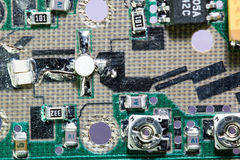 Detail of Microwave circuit amplifier Royalty Free Stock Image