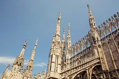 Detail of Milan cathedral (Duomo di Milano), Italy, architectura Stock Image