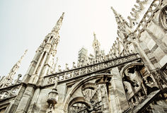 Detail of Milan cathedral - Duomo di Milano, Italy, religious ar. Detail of Milan cathedral - Duomo di Milano, Italy. Architectural theme. Cultural heritage. Big Stock Image