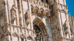Detail of Milan Cathedral or Duomo di Milano in Milan, Italy. Cl Stock Images