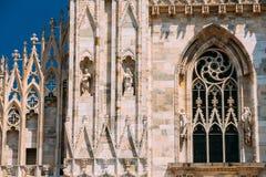 Detail of Milan Cathedral or Duomo di Milano in Milan, Italy. Cl Stock Images