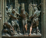 Detail of Milan Cathedral or Duomo di Milano in Milan, Italy. Cl Stock Photography