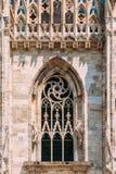 Detail of Milan Cathedral or Duomo di Milano in Milan, Italy. Stock Photography