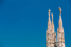 Detail of Milan Cathedral or Duomo di Milano in Milan, Italy Royalty Free Stock Image