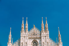 Detail of Milan Cathedral or Duomo di Milano in Milan, Italy. Stock Image