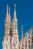 Detail of Milan Cathedral or Duomo di Milano in Milan, Italy. Stock Photo