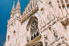 Detail of Milan Cathedral or Duomo di Milano in Milan, Italy. Stock Photos