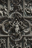 Detail of Milan Cathedral or Duomo di Milano in Milan, Italy. Milan, Italy - July 01, 2015: Detail of facade of Milan Cathedral or Duomo di Milano is the royalty free stock images