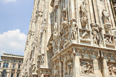 Detail of the Milan Cathedral Royalty Free Stock Photos