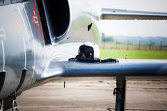 Detail of military fighter Stock Photography