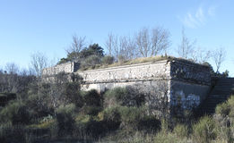 detail of a military fortress Royalty Free Stock Image
