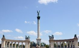 Detail of Millennium Memorial monument, Budapest, Hungary Royalty Free Stock Photos