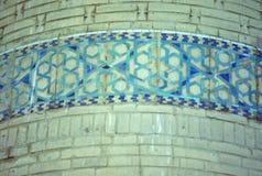 Detail, minaret decoration Stock Photography