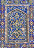 Detail of Mir-i-Arab Madrasa in Bukhara Buxoro, Uzbekistan Stock Photo