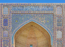 Detail of Mir-i-Arab Madrasa in Bukhara Buxoro, Uzbekistan Royalty Free Stock Images